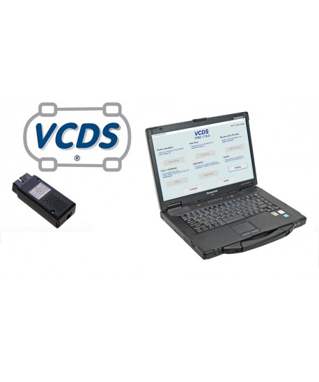 Spécial Garage: Valise diagnostic PC Panasonic Toughbook CF-53  (2ème main) + HEX-NET PRO (WIFI+USB)
