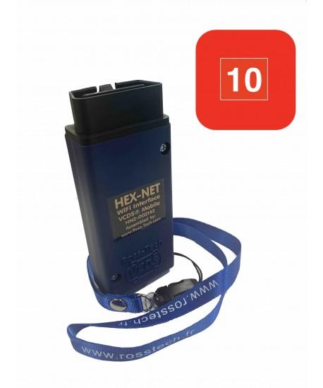 ROSS-TECH HEX-NET  (WIFI+USB) 10 VIN  Génération II pour groupe VW-Audi (1996 à 2020+)