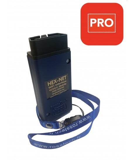 ROSS-TECH HEX-NET  (WIFI+USB) Génération II Edition professionnelle pour groupe VW-Audi (1996 à 2020+)
